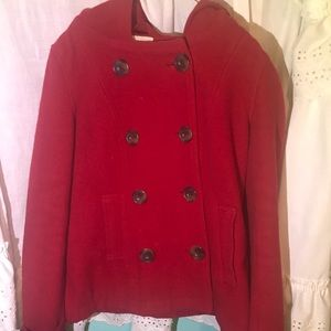 Red Aeropostale Small pea coat